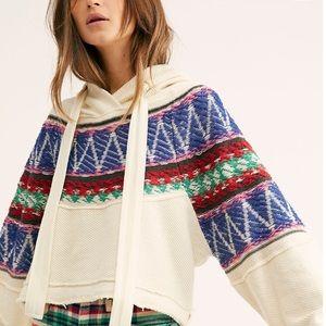 Free People Tribal Hooded Sweater